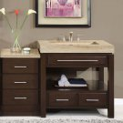 "56"" Sierra - Modern Single Bathroom Sink Vanity Cabinet w/ Soft Close Hardware 0218"