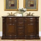 "60"" Samantha - Transitional Bathroom Double Sink Vanity Cabinet Granite  Top 0712"