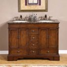 "48"" Sedona - Mini Compact Granite Stone Top Bathroom Double Sink Vanity Cabinet 0715"