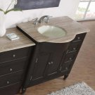 "58"" Kelston - Bathroom Furniture Dark Walnut Finish Cabinet Single Vanity (Left) 0902"