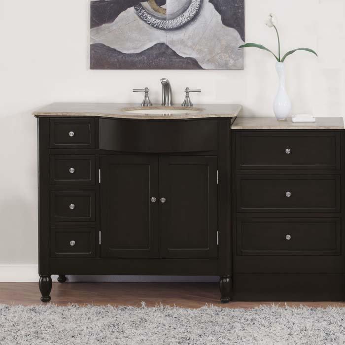 58 Kelston Bathroom Single Vanity Off Center Right Sink Drawer Cabinet 0902