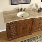 "58"" Empress - Bathroom Single Vanity Cabinet (Off Center - Right side Sink) 0904"