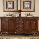 "72"" Grace - Bathroom Double Sink Vanity Cabinet Baltic Brown Granite Stone Top 8034"