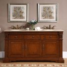"67"" Isabella - Travertine Stone Counter Top Bathroom Double Sink Vanity Cabinet 0181"