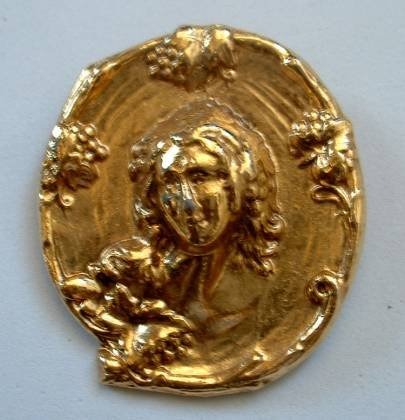 Art Nouveau Repousse Cameo Brooch Repro Maybe Jewelry