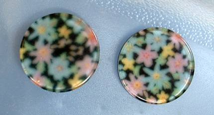 Colorful Reverse Carved Lucite Floral Earrings Vintage Jewelry