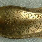 Large Etched Brass Fish Brooch Vintage Jewelry