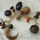 Charm Bracelet Various Interesting Seeds Nuts Smaller 6.5 inches