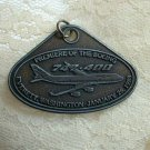 BOEING 1988 Premiere 737 and 747-400 Pewter Pendant Medallion
