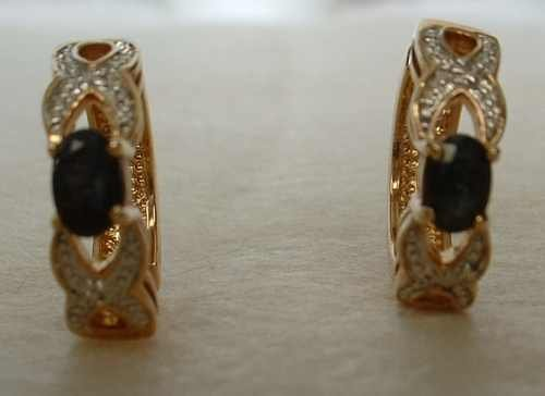 Elegant Rectangular Scissor Cross-Cut Black Onyx Hoop Earrings