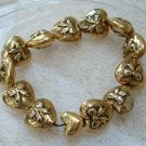 Puffed Heart Expansion Bracelet Bows Jewelry