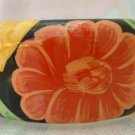 Wide Flashy Hand Painted Floral Wood Bangle India Jewelry