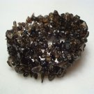 Smoky Topaz Woven Expansion Bracelet Gemstone Jewelry