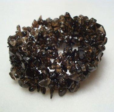 Smoky Topaz Woven Expansion Bracelet Gemstone Jewelry