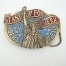 American Buckle Co Stand Up For Liberty Belt Buckle 1984 Vintage
