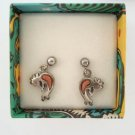Dakota West Kokopelli Sterling Silver Post Earrings Original Box Figural Jewelry