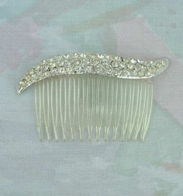 Two Hair Combs with Rhinestones Wedding Hair Jewelry