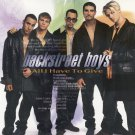 Backstreet Boys All I Have To Give CD