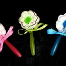 Washcloth Flower Baby Shower Favors Decorations Diaper Cakes spoon