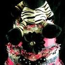 3 tier Girl Zebra Diaper Cake Baby Shower Centerpiece Gift Hair Clip Headband Show Your Stripes