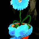 Turquoise Butterfly Flower Bouquet Baby Shower Birthday Party Favor Decoration Blue Centerpiece Gift