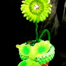 Lime Green Butterfly Flower Bouquet Baby Shower Birthday Party Favor Decoration Centerpiece Gift