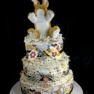 3 Tier Nut Brown Hare Diaper Cake Centerpiece Cream Brown My First Book Guess How Much I Love You