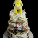 3 Tier Where's Spot Diaper Cake Baby Shower Centerpiece Gift Neutral Unisex Cream My First Book