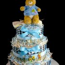 3 Tier Peter Rabbit Boy Diaper Cake Baby Shower Centerpiece Beatrix Potter My First Book Blanket
