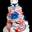 Hello Kitty Baby Girl Diaper Cake 3 tiers Baby Shower Centerpiece Gift