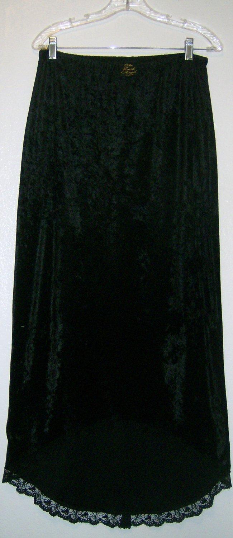 Black Velvet Spider Skirt and Top By The Dark Angel