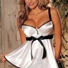 Breath-holding Sexy Charmeuse Babydoll Code: HM5109