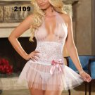 Stretch Lace and Soft Tulle halter Sleepwear Babydoll-Code: GB2109