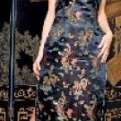 """Music Legs"" - Dragon Prints Long Dress w/High Side Slits Sz M/L 18LS-S70041"