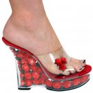 "Karo's 5"" Clear/Red Flowers Style: 0555-Funo"