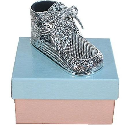 Silver Treasures - Silver Baby Shoe Engravable Keepsake