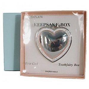 Silver Treasures - First Lock/Tooth Fairy Engravable Keepsake Box