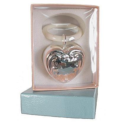Silver Treasures - Silver Heart Chime Engravable Keepsake