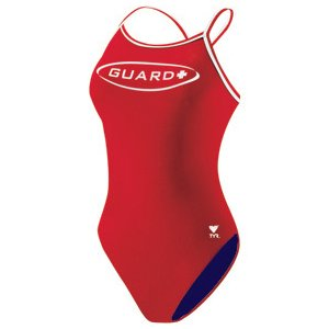 TYR Guard Women Swimsuit Double Binding Reversible (Red & Navy) Size: 36