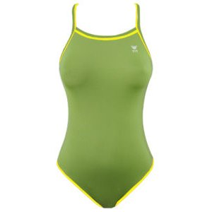 TYR Double Binding Reversible Swimsuit (Yellow & Green) Size: 30