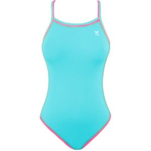TYR Double Binding Reversible Swimsuit (Baby Blue & Pink) Girl Size: 22