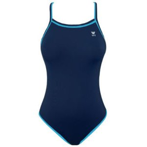 TYR Double Binding Reversible Swimsuit (Baby Blue & Navy) Girl Size: 26
