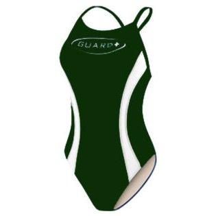 TYR Guard Swimsuit Women Splice Diamondback (Green & White) Size: 30