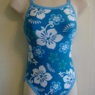 TYR Reversible Women Swimsuit with Design (Floral & Ice Blue) Size: 30