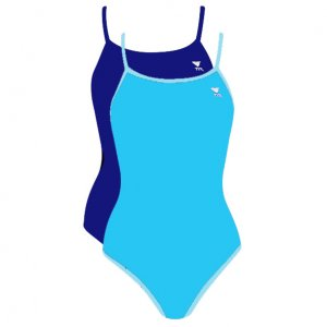 TYR Reversible Diamondback Women Swimsuit (Ice Blue/Purple) A30 Size: 38