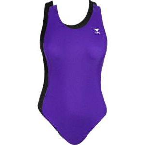 TYR Women Swimsuit Reversible Maxback (Purple/Black) R2 Size: 38