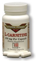 L-CARNITINE 250 mg Capsules 100 Count