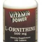 L-Ornithine Free-Form Amino Acid Supplement 100 Count