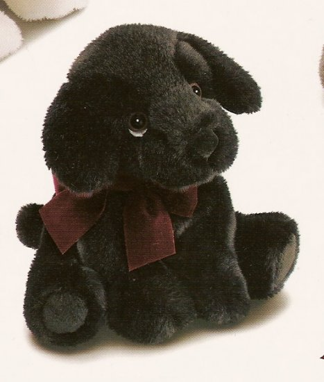 Russ Berrie Winter Scarf Pets - Plush Black Lab Puppy - FREE USA SHIPPING!