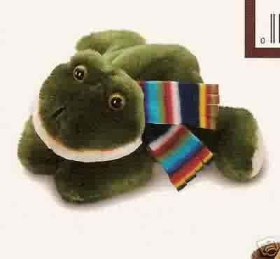 Russ Berrie Winter Pals - Plush Frog  FREE USA SHIPPING!!
